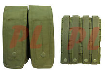 MOLLE AK AR Double Rifle Mag Pouch Magazine Close Flap Pouch Pals-OD GREEN