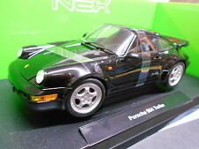 PORSCHE 911 964 Turbo black schwarz 1989 Welly limited 1/1000 1:18