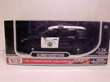 2015 Ford Explorer California Highway Patrol Interceptor Diecast 1:24 CHP 8 inch