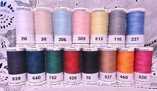 15 NEW 274 yard Spools different GUTERMANN 100% polyester sew-all thread