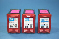 3 x Original HP Patronen 58 Photo C6658AE wvs
