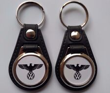 VW EAGLE KEYCHAIN FOBS 2 PACK VOLKS WAGON LOGO CLASSIC