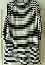 Next Ladies Plus Size Navy Stripe Tunic - Size 20