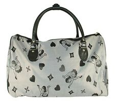 Betty Boop Black & Silver Gray Duffle Bag Carry On Bag Travel Bag Tote Bag
