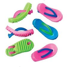 24 Flip Flop Sandal Mini Erasers Luau Party Goody Loot Bag Filler Favor Supply