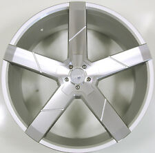 KRONIK GHOST 20 x 8.5 SILVER RIMS WHEELS MERCEDES S430 S500 5x112 +38