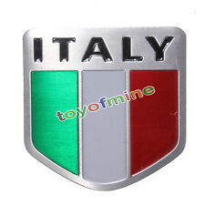 Alloy Metal Auto Aluminum 3D Emblem Badge Decals Sticker For Italy Italian Flag