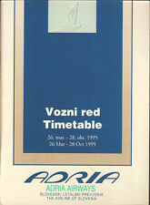 Adria Airways system timetable 3/26/95 [5071]