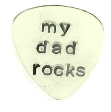 y dad rocks - Custom Guitar Pick Traditional style - Personalized Hand Stamped