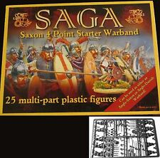 SAGA GBP08 Saxon 4 Point Starter Warband Plastic (25) Miniatures Warriors Hero