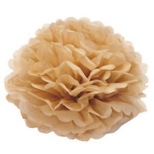 4 Inch Light Coffee Tissue Paper Pom Poms Flower Ball For Wedding Birthday Party