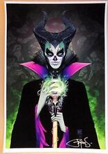"PETER STEIGERWALD MALIFICENT DE LOS MUERTOS FINE ART PRINT 13""x19"" BEAUTIFUL!"