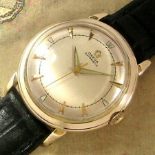 Mens Superb 1953 Omega 14K SOLID GOLD Bumper Automatic 354 Vintage Swiss Watch
