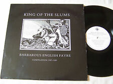 KING OF THE SLUMS - BARBAROUS ENGLISH FAYRE COMPILATION 1987 - 1989 ~ EX