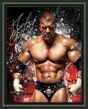 WWE - TRIPLE H  A4 SIGNED AUTOGRAPHED PHOTO POSTER  FREE POST