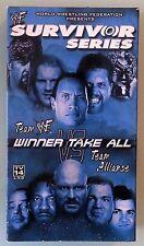wwf / wwe SURVIVOR SERIES 2000  VHS VIDEOTAPE