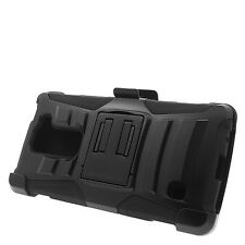 For LG G Escape 2 H443 C50 Rugged Case Cover with Kickstand+Belt Clip Holster