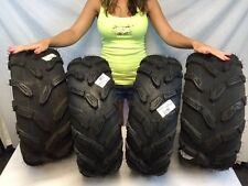 NEW (2) 25-8-12 & (2) 25-10-12 ATV Quadboss QBT671 Tires 6 ply 25x8x12 25x10x12