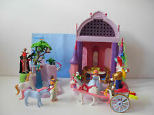 Playmobil 5756 Unicorn Fantasy Land Magic Castle Princess Carriage Waterfall Owl