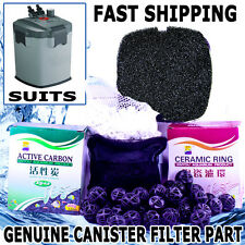 1200LPH Aqua Aquarium Fish Tank External Canister Water Filter Sponge MEDIA KIT