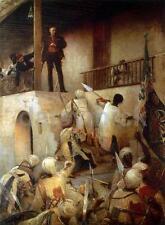 Général Gordon's last stand khartoum au soudan British Empire Mahdi 7x5 pouces imprimer