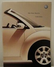 Volkswagen VW New Beetle Cabriolet UK Sales Brochure Dated 2003