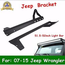 "07-15 JEEP WRANGLER JK 51.5-52"" LED LIGHT BAR STEEL UPPER ROOF MOUNT BRACKET HOT"