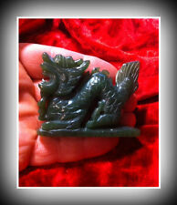 Beautiful  Taiwan Jade  Carved Dragon and Natural Quartz Crystal Point