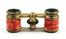 ANTIQUE FRENCH OPERA MINI GLASSES GOLD PLATED RED AGATE DECORATION  # 81