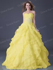 Puffy Quinceanera LONG Prom Bridesmaid Wedding Party Formal Evening Gown Dresses