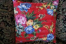 NEW INDIAN KANTHA HAND STITCHED CUSHION COVER-OTHERS LISTED IN STORE
