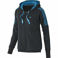 Adidas Performance Womens Hooded Tracktop Fitness Training Top UK XXS