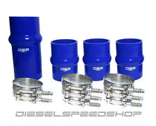 2003-2007 DODGE Cummins® INTERCOOLER BOOT KIT BLUE SILICONE KIT STAINLESS CLAMPS