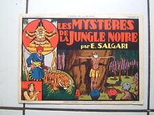 EDITION SAGE / L APPEL DE LA JUNGLE / NUM 10 / SALGARI / LES MYSTERES ....  1938