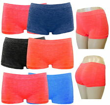 6 LADIES WOMEN BOXER SHORTS LIKRA SEAMLESS UNDERWEAR PANTIES BOYSHORTS