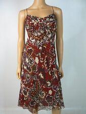 Ann Taylor Silk Chiffon Empire Waist Gold Lurex Cocktail Dress 4 NEW A785