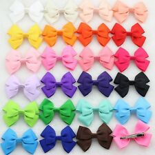10PCS Kids Baby Girls Boutique Ribbon Hair Bow Clips Hairpins Hair Accessories