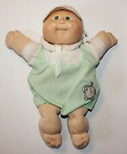Cabbage Patch Kids Doll Vintage Coleco Preemie Blonde Green Eyes Dimple Outfit