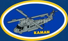 KAMAN SH-2G SUPER SEASPRITE ANTI-SUBMARINE WARFARE HELICOPTER OVAL STICKER