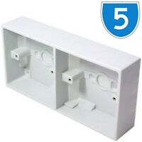 5x 32MM SURFACE MOUNT 2x 1 GANG DOUBLE PATTRESS SINGLE SOCKET SWITHC BACK BOX