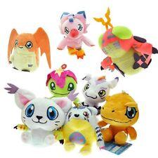 8pcs Digimon Adventure Agumon Gabumon Tentomon Tailmon Mini Plush Charm Set