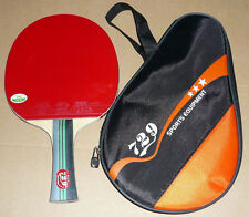 Best Friendship RITC729 Carbon Table Tennis Paddle Bat Racket with Case, New