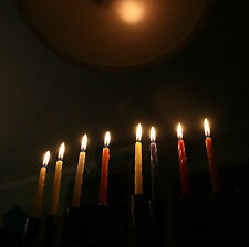 44 Chanuka CANDLES....... Coloured Hanukah Menora Lights Box Jewish Judaica Pack