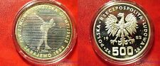 1983 Poland Silver Proof  500 Zl-Olympic Skater Proba/Pattern