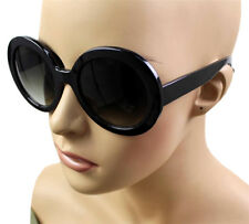 NEW WOMEN'S SEXY FASHIONABLE ROUND DESIGNER RETRO SUNGLASSES BLACK KS1477-ASST A