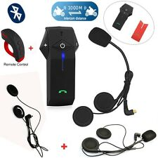 COLO-RC 1000m Motorbike Bluetooth Intercom Interphone Remote Control+2 Headphone