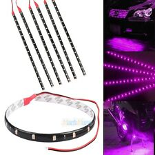 6xHigh Power Car Motor Flexible LED Light Strip Waterproof 15SMD 30CM 12V Purple