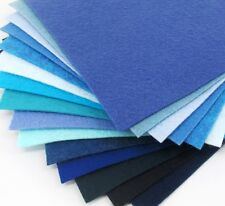 "15 - 6""X6""  Blue Colors Collection - Merino Wool blend Felt Sheets"