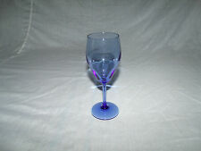 "(1) VINTAGE Hand Blown COBALT BLUE TEARDROP Wine Glass    6 1/2"" tall"