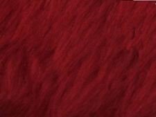 Red Plain Faux Fur Fabric Short Hair 150cm Wide SOLD BY THE METRE